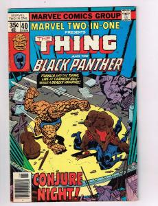 Marvel Two In One #40 VG/FN Marvel Comics Comic Book Thing 1978 DE42