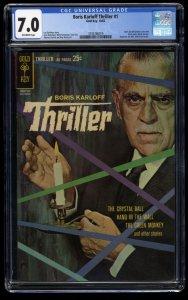 Boris Karloff Thriller #1 CGC FN/VF 7.0 Off White