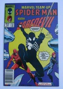 Marvel Team-Up #141 VF+ Key Issue 1st Spider-Man Black Costume Marvel Comics