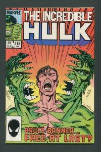 Incredible Hulk #315 / 9.0 VFN/NM  January 1986
