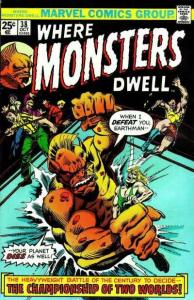 Where Monsters Dwell (1970 series) #38, VF- (Stock photo)