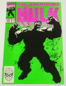 The Incredible Hulk #377 signed by Peter David - Marvel comics