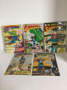 Superman 181 182 183 184 185 186 188 189 190 Vg-Fn Very Good-Fine 4.0-6.0