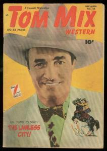 TOM MIX WESTERN #24 1949-FAWCETT COMICS-MOVIE PHOTO COV VG/FN