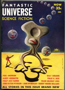 FANTASTIC UNIVERSE SCIENCE FICTION-Jan 1954-Pulp---P J FARMER--PHILIP K DICK