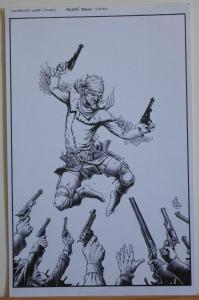 TIMOTHY TRUMAN original art, HAWKEN #5, Cover, All In, Guns Drawn, 11x17, 2011