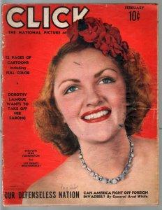 Click 2/1940-Dorothy Lamour-Earl Moran-Jay Irving-Bo Brown-FR