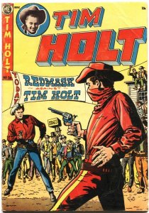 TIM HOLT #36-1952-EARLY PRE-CODE HORROR GHOST RIDER-REDMASK VS TIM HOLT--ME