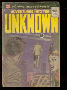 ADVENTURES INTO THE UNKNOWN #111-1959-GREY TONE COVER!  FR