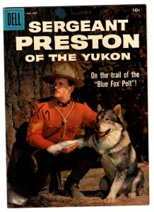 Sergeant Preston of The Yukon #28 1958-Dell-TV photo cover-Yukon King-VF/NM