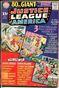 JUSTICE LEAGUE OF AMERICA #39-80 PAGE GIANT- FR/G