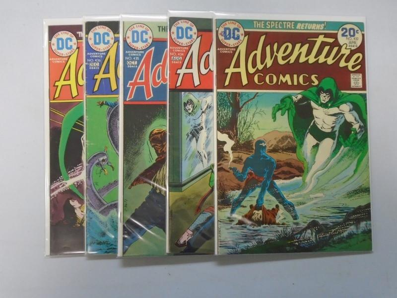 Spectre Adventure Comics  - see pics - average 6.0 - years vary