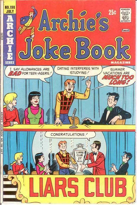 ARCHIES JOKE BOOK (1954-1982)198 VG-F July 1974 COMICS BOOK