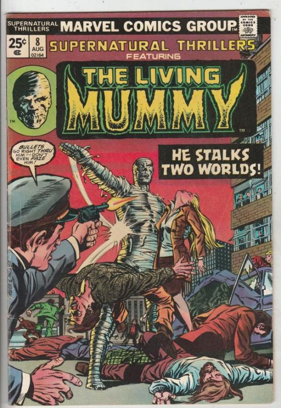 Supernatural Thrillers #8 (Aug-74) FN Mid-Grade The Mummy