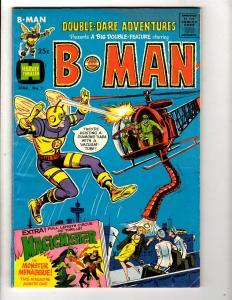Double Daring Adventures # 2 FN Harvey Comic Book B-Man Magic Master JL28