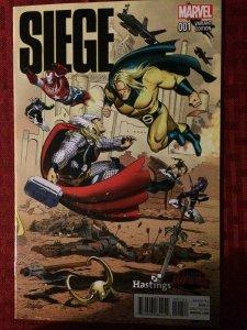 Siege #1 Marvel Comics NM Thor Captain America Hastings