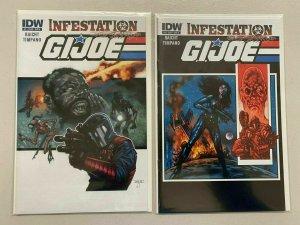 GI Joe Infestation set #1+2 8.0 VF (2011 IDW)