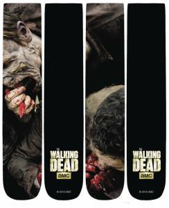 Walking Dead Eating Walkers 360 Print Unisex Crew Socks - New!