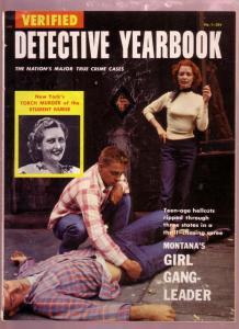 VERIFIED DETECTIVE YEARBOOK #1 1955- GIRL GANG FN