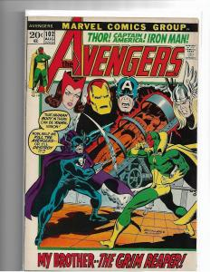AVENGERS #102 - VF - MID GRADE BRONZE AGE CLASSIC ISSUE - MARVEL