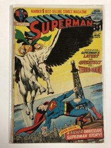 SUPERMAN 249 GOOD ADAMS   March 1972 COMICS BOOK
