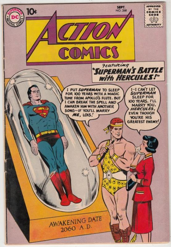 Action Comics #268 (Oct-60) FN/VF Mid-High-Grade Superman, Supergirl