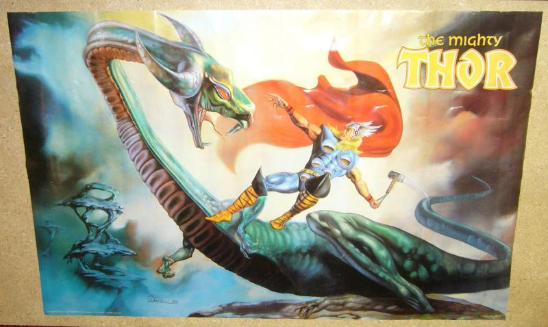 Mighty Thor poster - 33.5 x 22 - dorian cleavenger - marvel comics - dragon