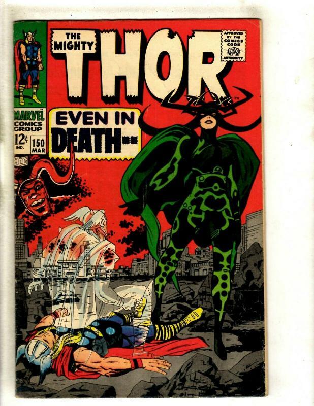 Thor # 150 VF Marvel Comic Book Loki Odin Sif Avengers Hulk Iron Man GK4