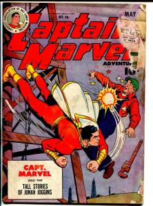 Captain Marvel Adventures #46 1945-Fawcett-Steamboat-final Mr Mind episode-FR