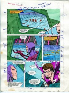 Justice Machine #24 Page #28 1988 Original Color Guide