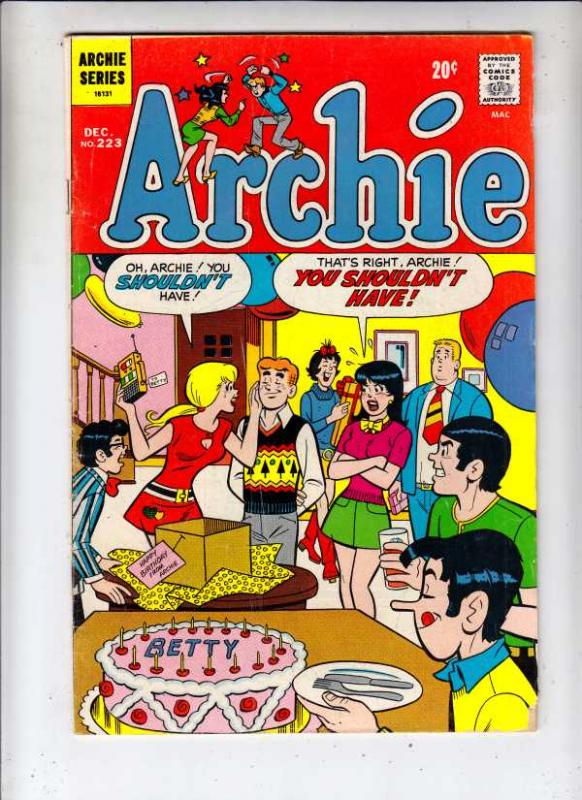 Archie #223 (Dec-72) FN/VF Mid-High-Grade Archie