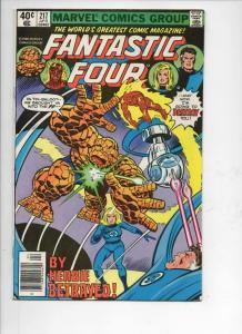 FANTASTIC FOUR #217, FN+, Herbie the Robot, 1961 1980, Marvel, more FF in store