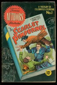 SCARLET PIMPERNEL-FAMOUS AUTHORS ILLUSTRATED COMICS #1 FN