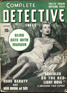 Complete Detective Cases 1/1941-True Crime-Bound babe-Jack Kirby art