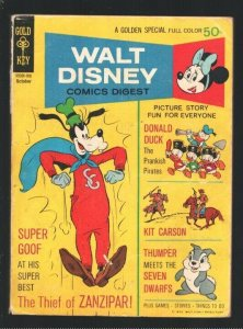 Walt Disney Comics Digest #25 1970-Carl Barks art-Kit Carson-Thumper-Donald D...