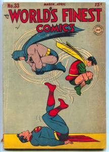 World's Finest Comics #33 1948- Tomahawk- Superman- Batman VG