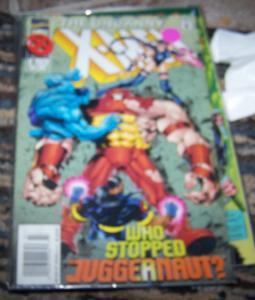 UNCANNY X-MEN #322 -july 1995 marvel who stopped juggernaut+ onslaught