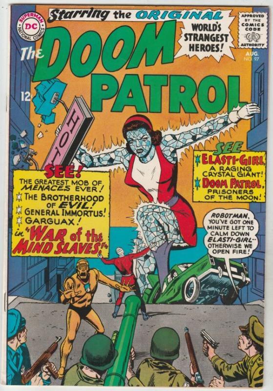 Doom Patrol #97 (Aug-65) NM- High-Grade The Chief, Negative Man, Elasti-Woman...