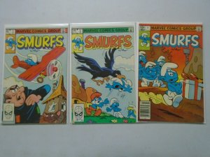 Smurfs set #1-3 4.0 VG (1982 Marvel)