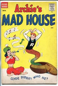 ARCHIE'S MADHOUSE #4 1960-SNAKE CHARMER-FRANKENSTEIN-BETTY-VERONICA-JUGHEAD-vg