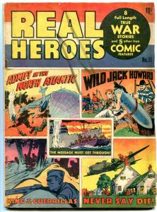 Real Heroes #11 1943-Hitler Panel- Golden Age- G