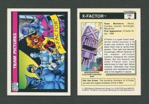 1990 Marvel Comics Card  #143 (X-Factor) / MINT
