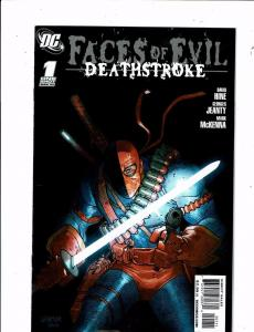 Lot of 2 Faces of Evil DC Comic Books #1 Deathstroke+1 KobraKS3