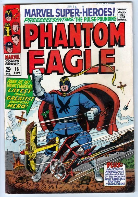 Marvel Super-Heroes 16 ~Phantom Eagle~  strict FN/VF 7.0 High-Grade