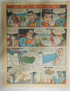 bvSuperman Sunday Page #1023 by Wayne Boring from 6/7/1959 Tabloid Page Size
