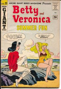 Archie Giant Series #23 1963-Betty & Veronica Summer Fun-swimsuit-VG