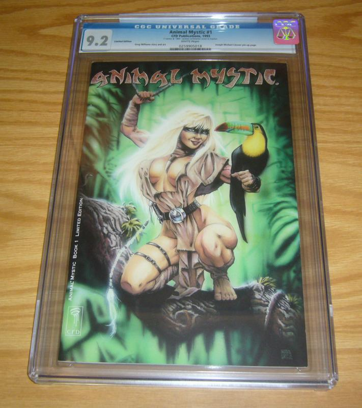 Animal Mystic #1 CGC 9.2 limited edition - signed & numbered (994 of 2,000)