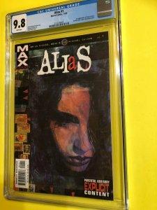 ALIAS #1 CGC 9.8 WHITE 11/01 MARVEL / 1'st APP. JESSICA JONES DIRECT EDITION