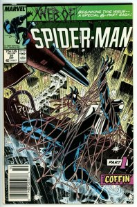 Web of Spider Man #31 (1985) - 7.0 FN/VF *Part 1 Death of Kraven Story Newsstand