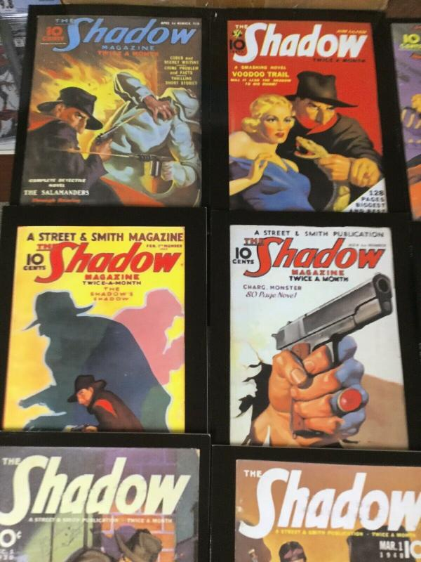 The Shadow Pulp Reprint Black Mask Online Lot Of 16 (23 Exist) Near Mint